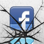 Smashed Facebook icon