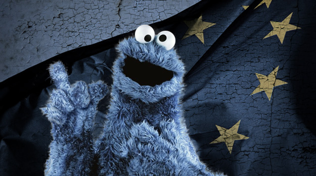 Cookie Monster and the EU flag