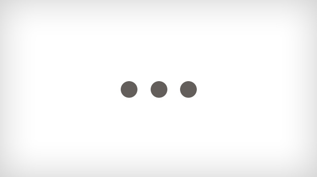 Three dots on a grey background