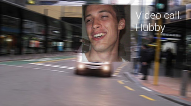 Google Glass video call when driving
