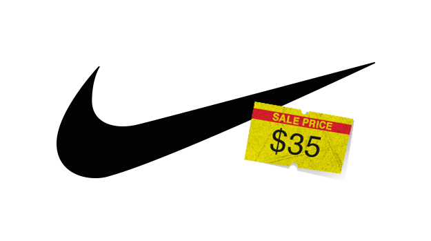 Nike logo with $35 price tag