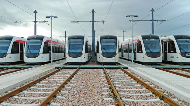 Picture of the Edinburgh trams