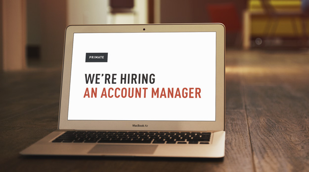 Primate are hiring an Account Manager